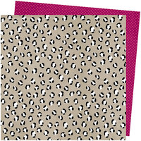 American Crafts - Slice Of Life Collection - 12 x 12 Double Sided Paper - Spotted Here