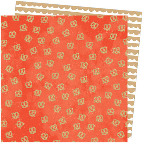 American Crafts - Slice Of Life Collection - 12 x 12 Double Sided Paper - In a Twist