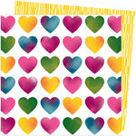 American Crafts - Slice Of Life Collection - 12 x 12 Double Sided Paper - Love Always