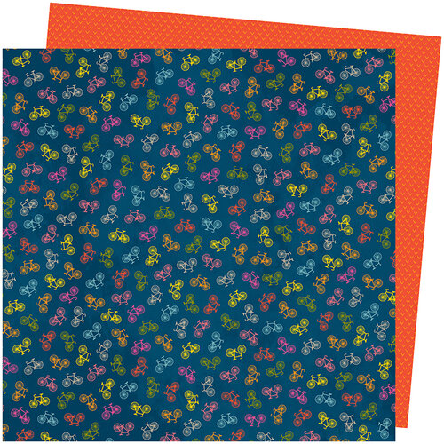 American Crafts - Slice Of Life Collection - 12 x 12 Double Sided Paper - What a Ride