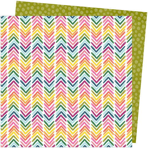 American Crafts - Slice Of Life Collection - 12 x 12 Double Sided Paper - Onward and Upward