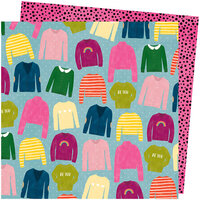 American Crafts - Slice Of Life Collection - 12 x 12 Double Sided Paper - Knit Wit