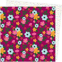 American Crafts - Slice Of Life Collection - 12 x 12 Double Sided Paper - Flower Power