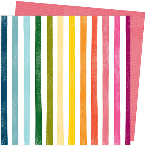 American Crafts - Slice Of Life Collection - 12 x 12 Double Sided Paper - Rainbow Hall