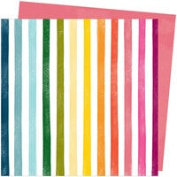 Amy Tangerine - Slice Of Life Collection - 12 x 12 Double Sided Paper - Rainbow Hall