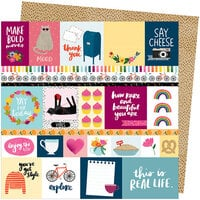 American Crafts - Slice Of Life Collection - 12 x 12 Double Sided Paper - Bold Moves