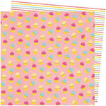 American Crafts - Slice Of Life Collection - 12 x 12 Double Sided Paper - My Cupcake