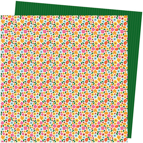 American Crafts - Slice Of Life Collection - 12 x 12 Double Sided Paper - Full Bloom