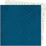 American Crafts - Slice Of Life Collection - 12 x 12 Double Sided Paper - Bamboo Blues
