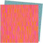 American Crafts - Slice Of Life Collection - 12 x 12 Double Sided Paper - Pink Lemonade