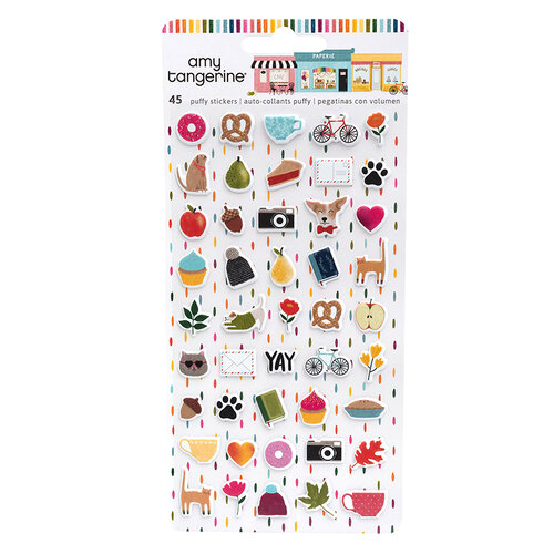 American Crafts - Slice Of Life Collection - Mini Puffy Stickers