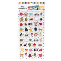 Amy Tangerine - Slice Of Life Collection - Mini Puffy Stickers