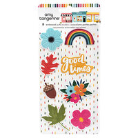 American Crafts - Slice Of Life Collection - Embossed Puffy Stickers