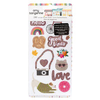American Crafts - Slice Of Life Collection - Sticker Book With Glitter Accents