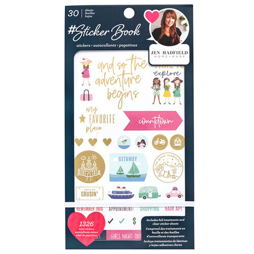 American Crafts - Sticker Book With Foil Accents - Jen Hadfield