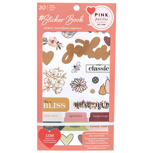 American Crafts - Sticker Book With Foil Accents - Pink Paislee
