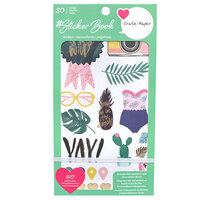American Crafts - Sticker Book With Foil Accents - Crate Paper