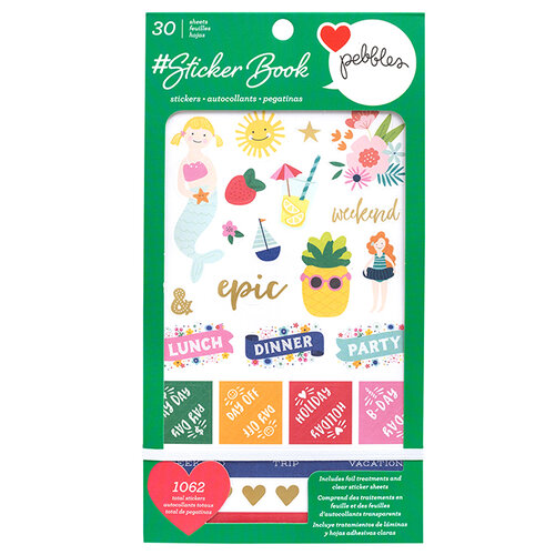 American Crafts - Sticker Book With Foil Accents - Pebbles