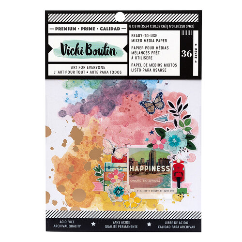 American Crafts - Let's Wander Collection - 6 x 8 Paper Pad - Mixed Media