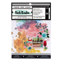 Vicki Boutin - Let's Wander Collection - 6 x 8 Paper Pad - Mixed Media
