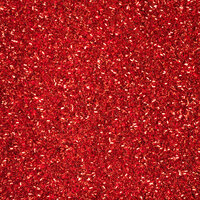 American Crafts - 12 x 12 Specialty Paper - Glitter - Tinsel - Crimson