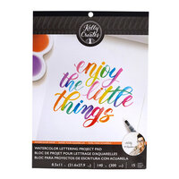 Kelly Creates - Watercolor Brush Lettering Collection - Practice Pad - Blank