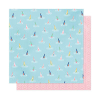 American Crafts - She's Magic Collection - 12 x 12 Double Sided Paper - Across The Sea