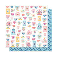 American Crafts - She's Magic Collection - 12 x 12 Double Sided Paper - Just Smile