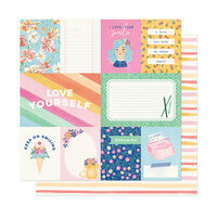 American Crafts - She's Magic Collection - 12 x 12 Double Sided Paper - A Simple Hello