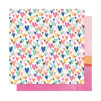 American Crafts - She's Magic Collection - 12 x 12 Double Sided Paper - Kind Heart