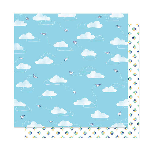 American Crafts - She's Magic Collection - 12 x 12 Double Sided Paper - Air Mail