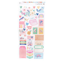 Dear Lizzy - She's Magic Collection - 6 x 12 - Sticker Sheet with Iridescent Foil Accents