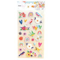 American Crafts - She's Magic Collection - Puffy Stickers - Matte