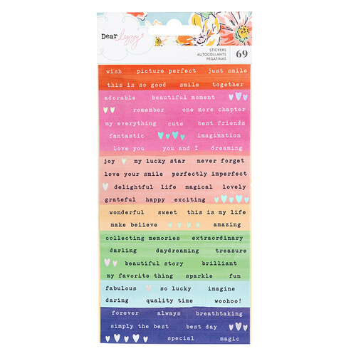 American Crafts - She's Magic Collection - Confetti Stickers with Iridescent Foil Accents