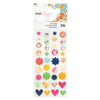American Crafts - She's Magic Collection - Enamel Stickers with Iridescent Glitter Accents