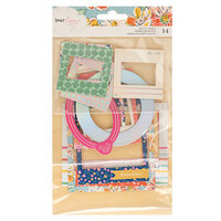 American Crafts - She's Magic Collection - Chipboard Frames with Holographic Foil Accents