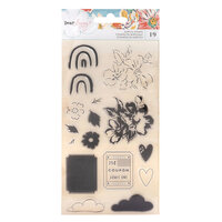 American Crafts - She's Magic Collection - Clear Acrylic Stamps