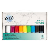 American Crafts - Art Supply Basics Collection - Professional Acrylic Paint Set - 9 Pieces