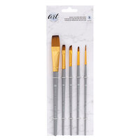 American Crafts - Art Supply Basics Collection - Paint Brushes - Basic - Nylon Bristles - 5 Pieces