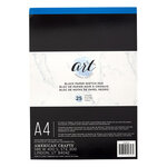 American Crafts - Art Supply Basics Collection - A4 - Sketch Pad - Black - 25 Sheets
