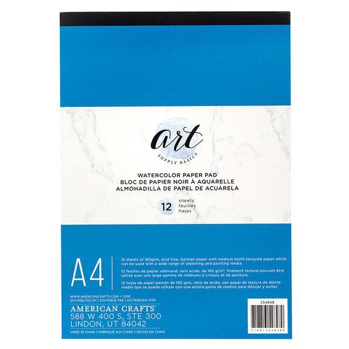 American Crafts - Art Supply Basics Collection - A4 - Watercolor Pad - 12 Sheets