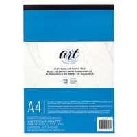 American Crafts - Art Supply Basics Collection - A4 - Watercolor Pad - 12 Sheets