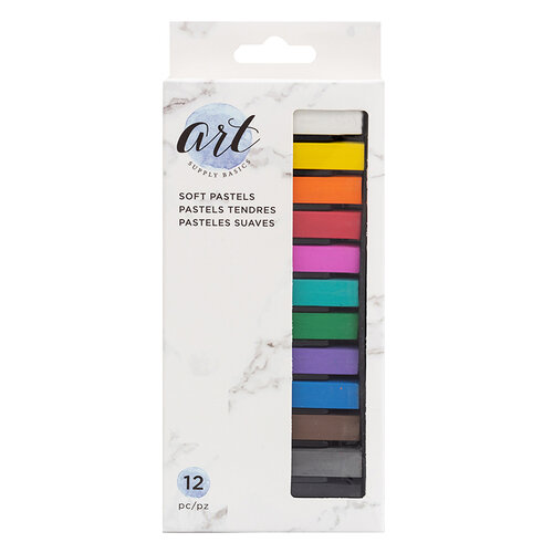 American Crafts - Art Supply Basics Collection - Medium - Soft Pastels - 12 Pieces