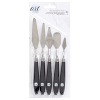 American Crafts - Art Supply Basics Collection - Stainless Palette Knife Set