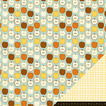 American Crafts - Nightfall Collection - Halloween - 12 x 12 Double Sided Paper - Autumn Cider