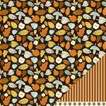 American Crafts - Nightfall Collection - Halloween - 12 x 12 Double Sided Paper - Autumn Harvest