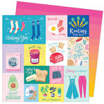 American Crafts - Write At Home Collection - 12 x 12 Double Sided Paper - Everything But The Kitchen Sink