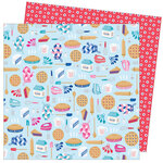 American Crafts - Write At Home Collection - 12 x 12 Double Sided Paper - Life Is What You Bake It