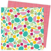 American Crafts - Write At Home Collection - 12 x 12 Double Sided Paper - Let the Beet Drop
