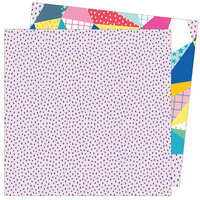 American Crafts - Write At Home Collection - 12 x 12 Double Sided Paper - Quilt While You're Ahead
